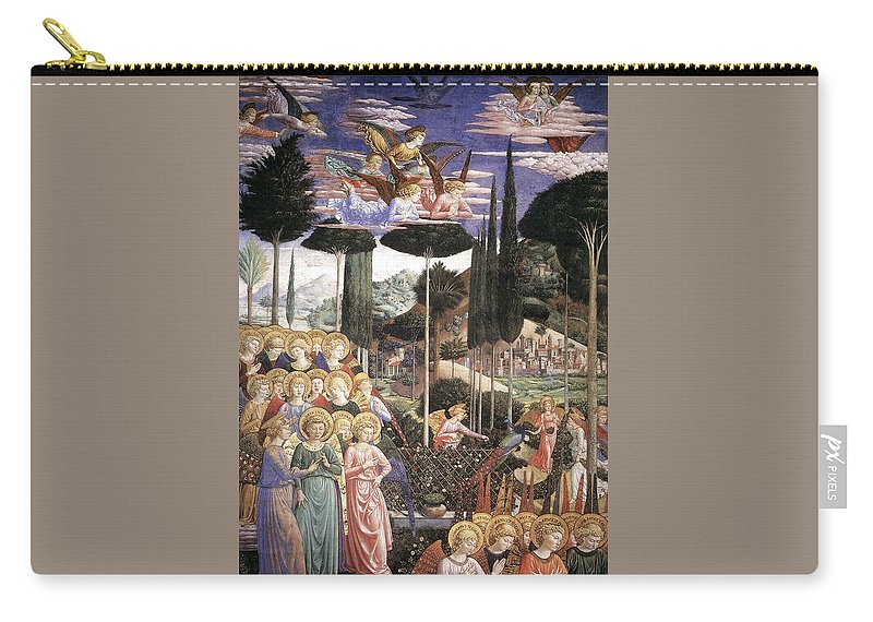 Christmas Carry-all Pouch featuring the painting Angels Art by Munir Alawi