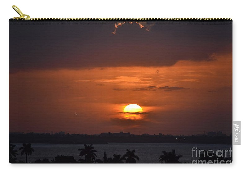 Miami Beach Carry-all Pouch featuring the photograph Angel's Head Sunset by Rene Triay Photography