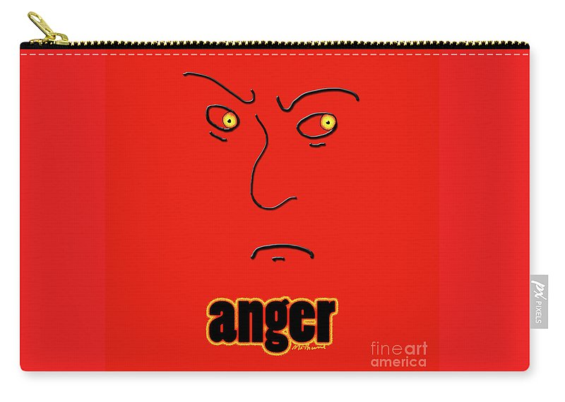 Anger Carry-all Pouch featuring the digital art Anger by Methune Hively