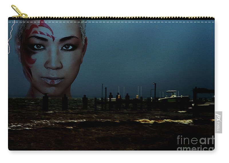 Clay Carry-all Pouch featuring the photograph Angry Sea by Clayton Bruster