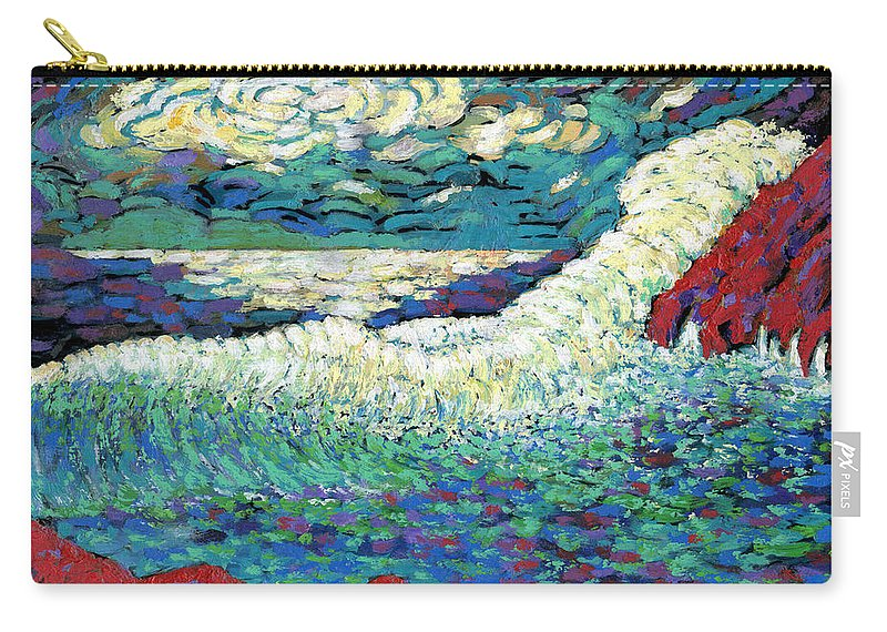 Storm Carry-all Pouch featuring the painting Angry Seas by Richard Votch