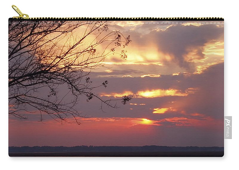 Sunset Carry-all Pouch featuring the photograph Angry Sky by Phill Doherty