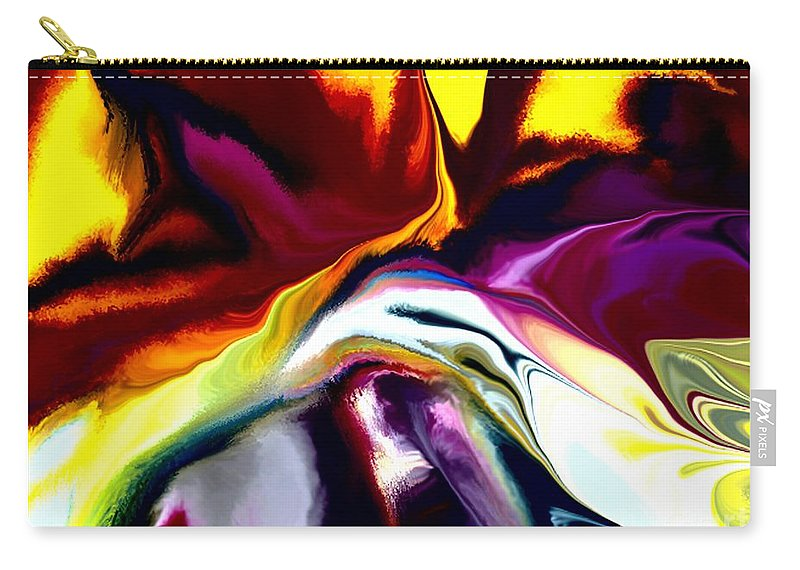 Abstract Carry-all Pouch featuring the digital art Angst by David Lane
