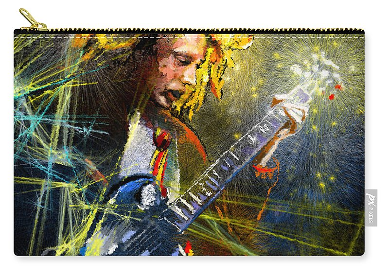 Music Carry-all Pouch featuring the painting Angus Young by Miki De Goodaboom