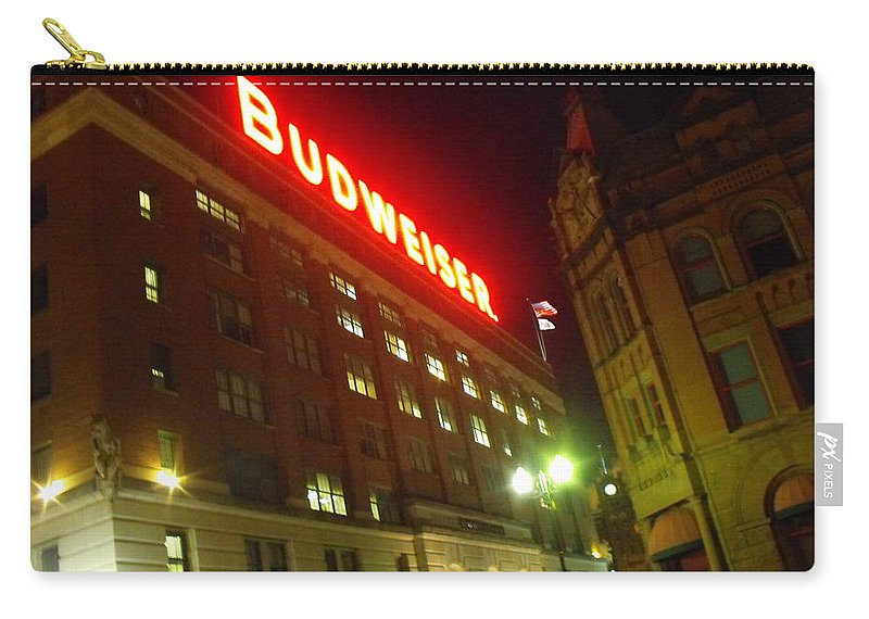 Abstract Carry-all Pouch featuring the photograph Anheuser-busch Brewery by Ginger Repke