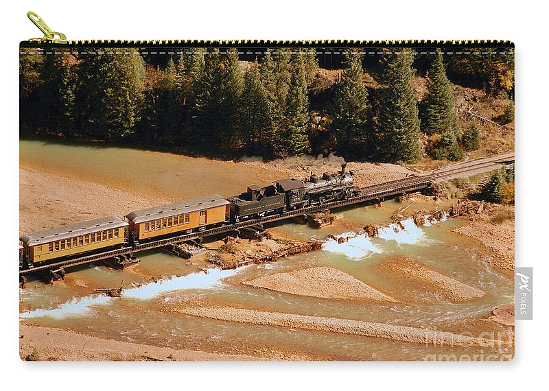 Animas River Carry-all Pouch featuring the photograph Animas River Crossing by David Lee Thompson