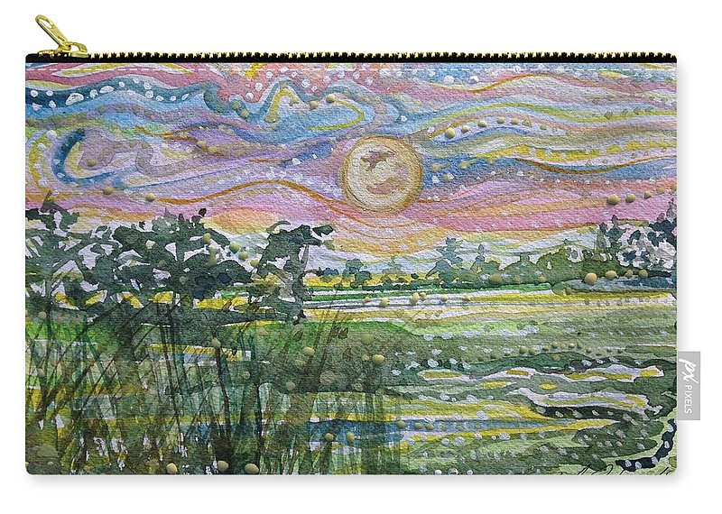 Carry-all Pouch featuring the painting Animism Mist Medley by Michael Richardson