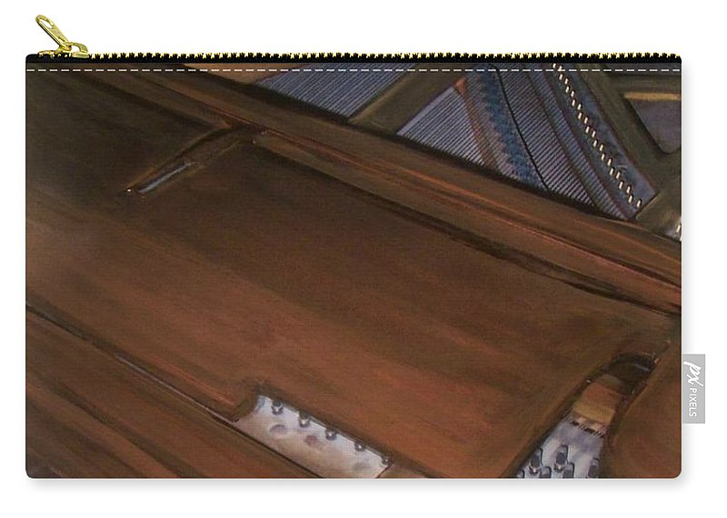 Piano Carry-all Pouch featuring the mixed media Anita's Piano 2 by Anita Burgermeister