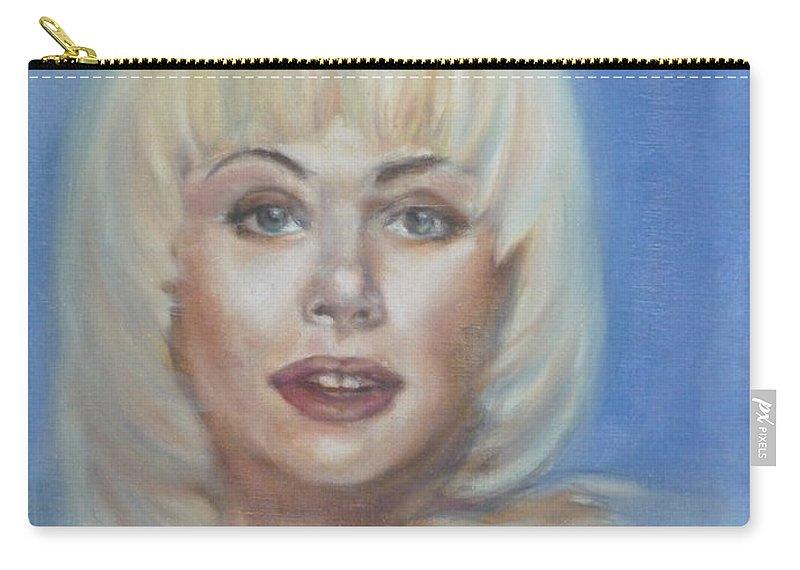Ann Jillian Carry-all Pouch featuring the painting Ann Jillian by Bryan Bustard