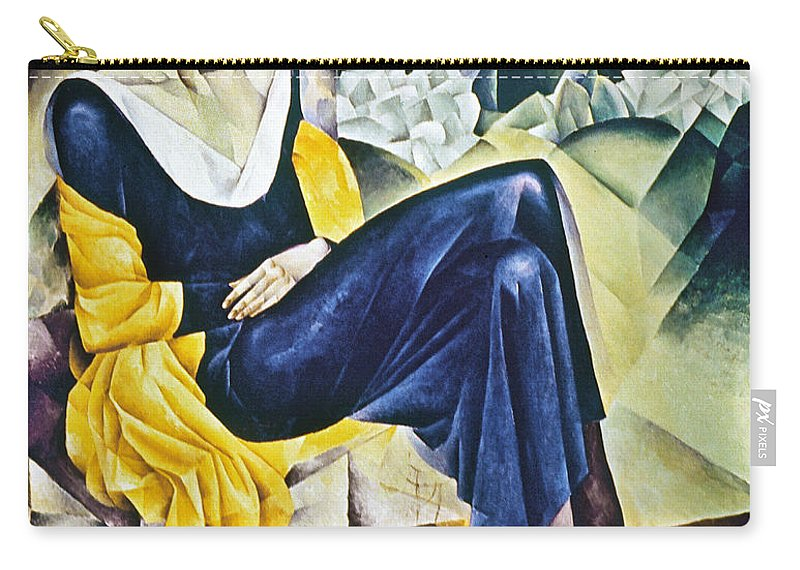 1914 Carry-all Pouch featuring the photograph Anna Akhmatova (1889-1967) by Granger