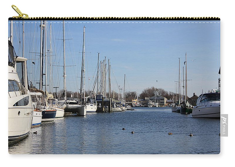 Annapolis Carry-all Pouch featuring the photograph Annapolis - Harbor View by Ronald Reid