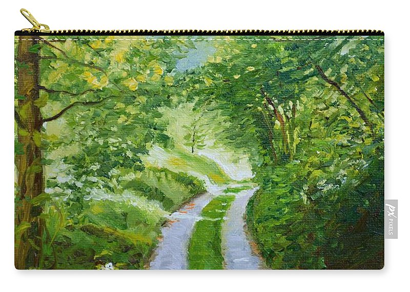Forest Carry-all Pouch featuring the painting Annecy Forest Afternoon by Dai Wynn