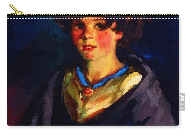 Annie Carry-all Pouch featuring the painting Annie Geg 1925 by Henri Robert