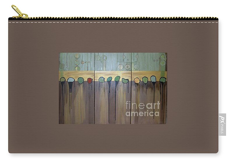 Abstract Carry-all Pouch featuring the painting Annie by Marlene Burns
