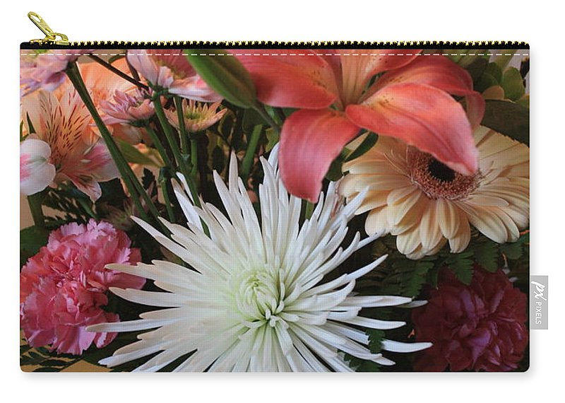 Bouquet Carry-all Pouch featuring the photograph Anniversary Card by Carol Groenen