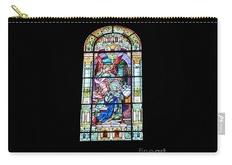 Stained Glass Window Carry-all Pouch featuring the photograph Annuciation Of Virgin Mary Mother Most Holy by Elizabeth Duggan