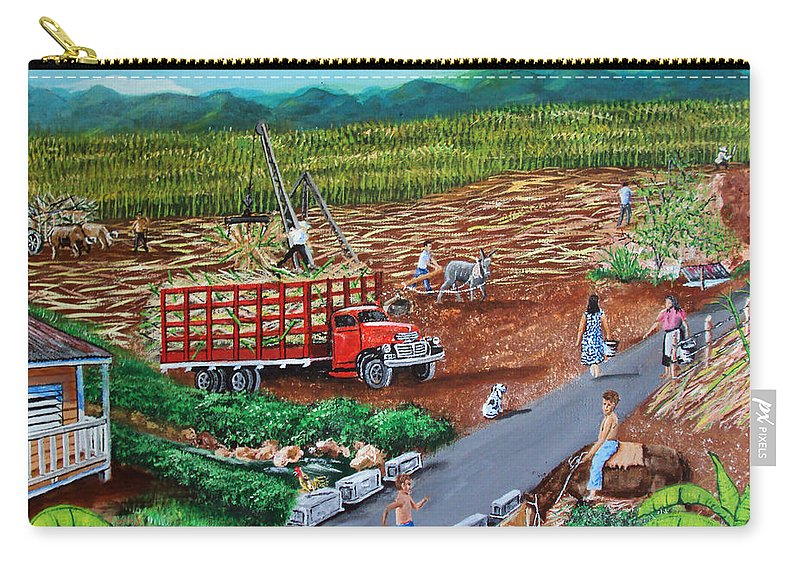 Sugarcane Field Carry-all Pouch featuring the painting Anoranzas by Luis F Rodriguez