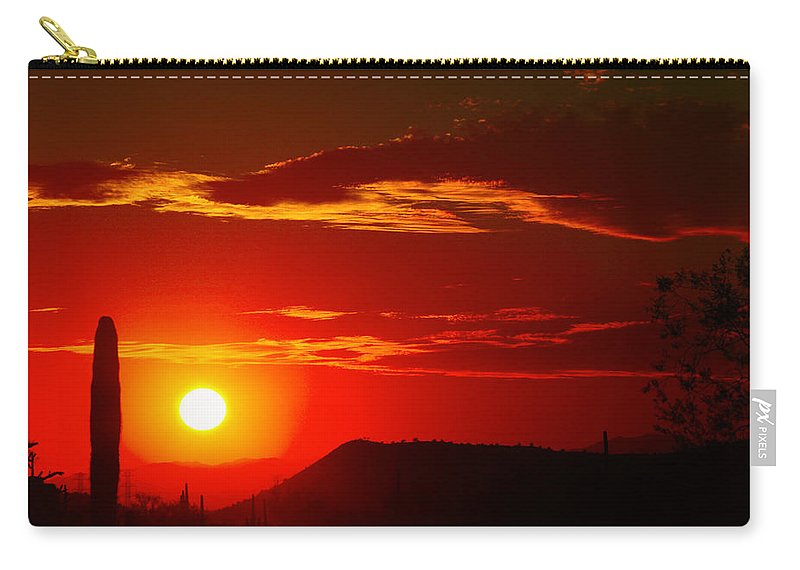 Sunset Carry-all Pouch featuring the photograph Another Beautiful Arizona Sunset by James BO Insogna