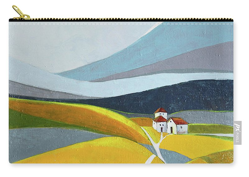 Landscape Carry-all Pouch featuring the painting Another Day On The Farm by Aniko Hencz