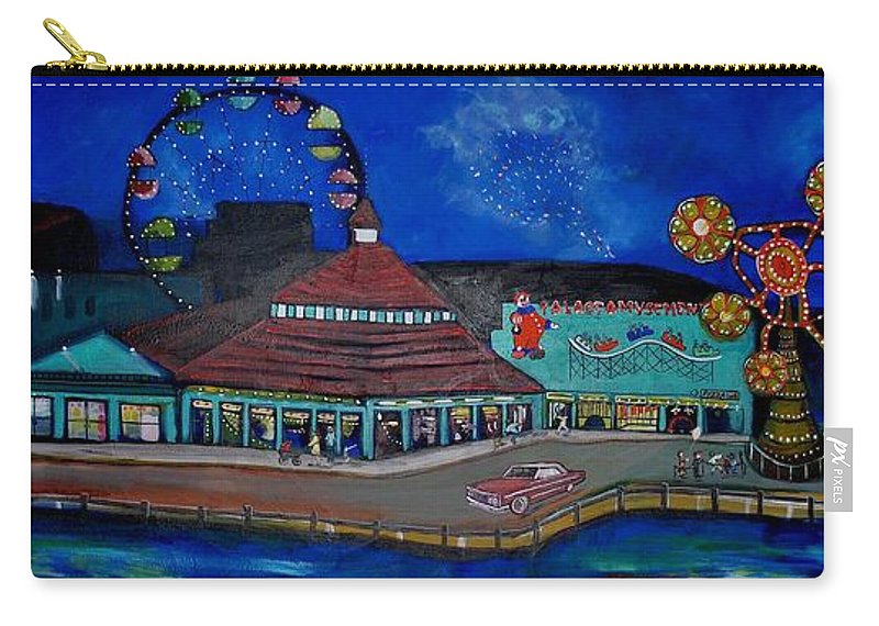 Asbury Art Carry-all Pouch featuring the painting Another memory of the Palace by Patricia Arroyo