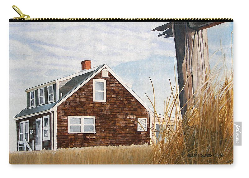 Landscape Carry-all Pouch featuring the painting Another New England Sunrise by Dominic White