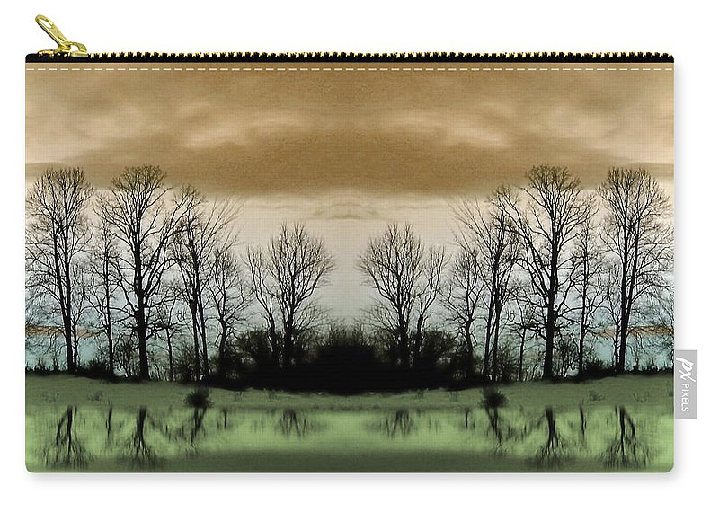 Green Carry-all Pouch featuring the photograph Another Planet by Munir Alawi