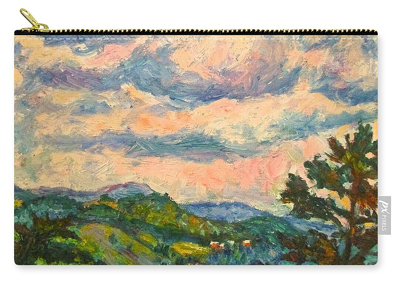 Landscape Paintings Carry-all Pouch featuring the painting Another Rocky Knob by Kendall Kessler
