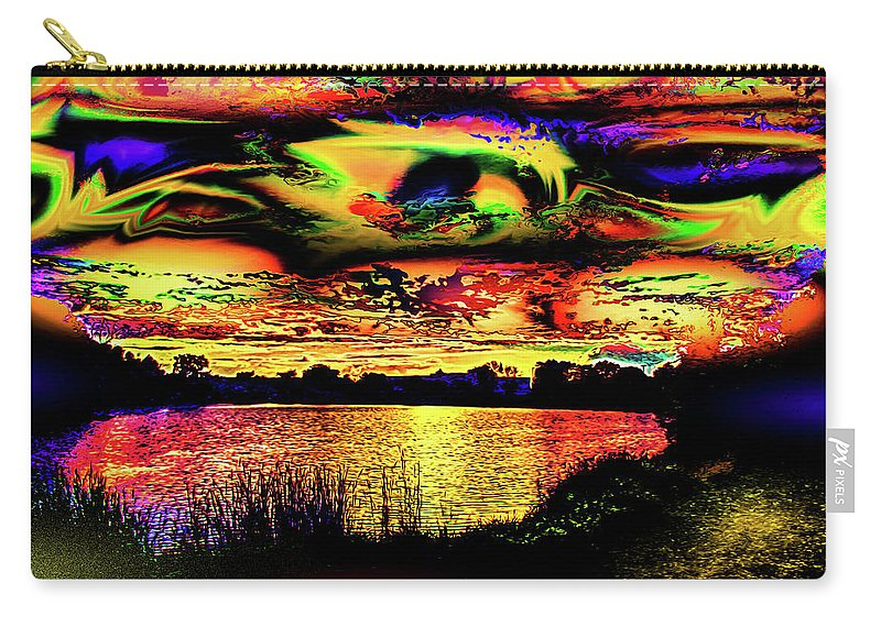 World's Carry-all Pouch featuring the digital art Another Wicked Sunset by Ron Fleishman