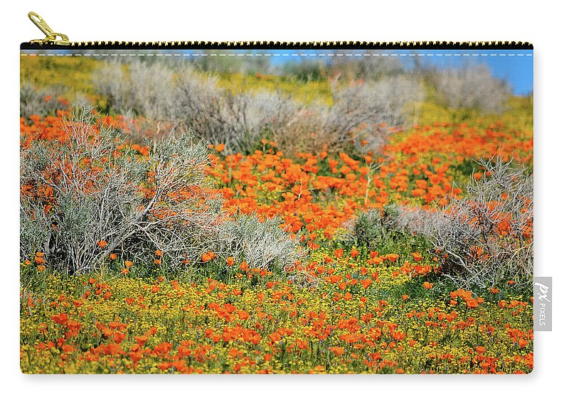 Antelope Valley California Poppy Reserve Carry-all Pouch featuring the photograph Antelope Valley Poppies by Kyle Hanson