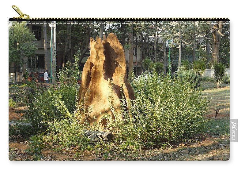 Ant Carry-all Pouch featuring the photograph Anthill by Usha Shantharam
