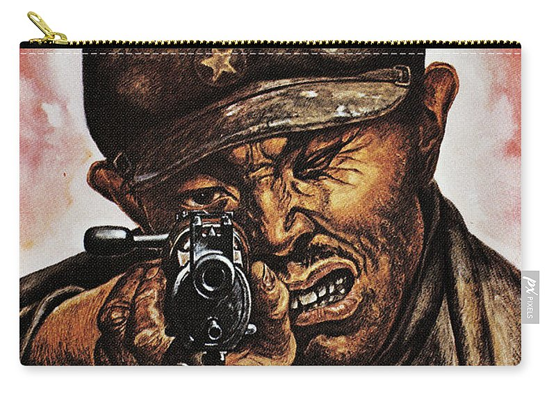 1942 Carry-all Pouch featuring the photograph Anti-japanese Poster, 1942 by Granger