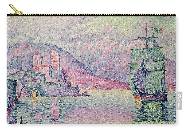 Antibes Carry-all Pouch featuring the painting Antibes by Paul Signac
