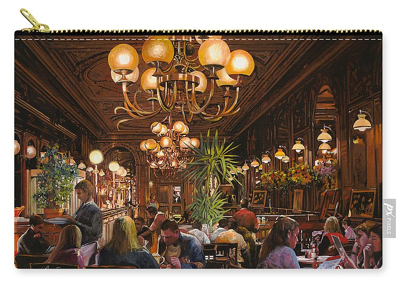 Brasserie Carry-all Pouch featuring the painting Antica Brasserie by Guido Borelli