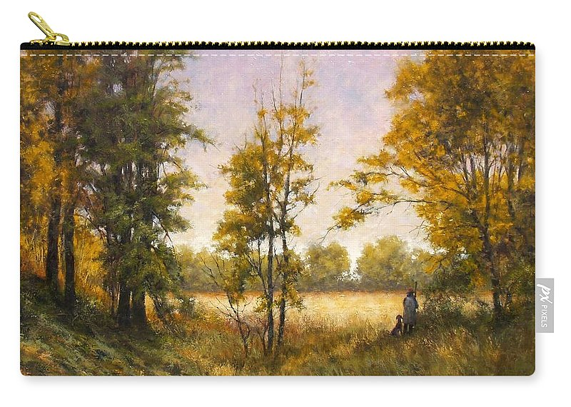 Artist Carry-all Pouch featuring the painting Anticipation by Jim Gola