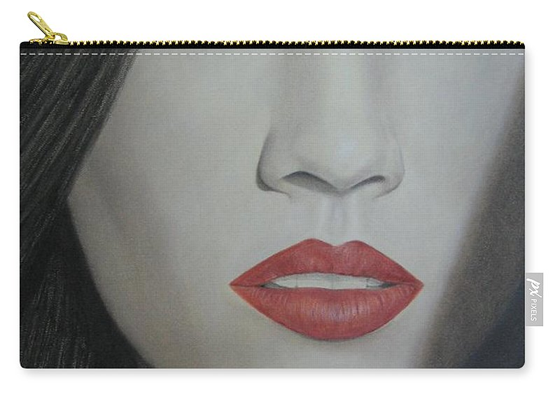 Woman Carry-all Pouch featuring the painting Anticipation by Lynet McDonald