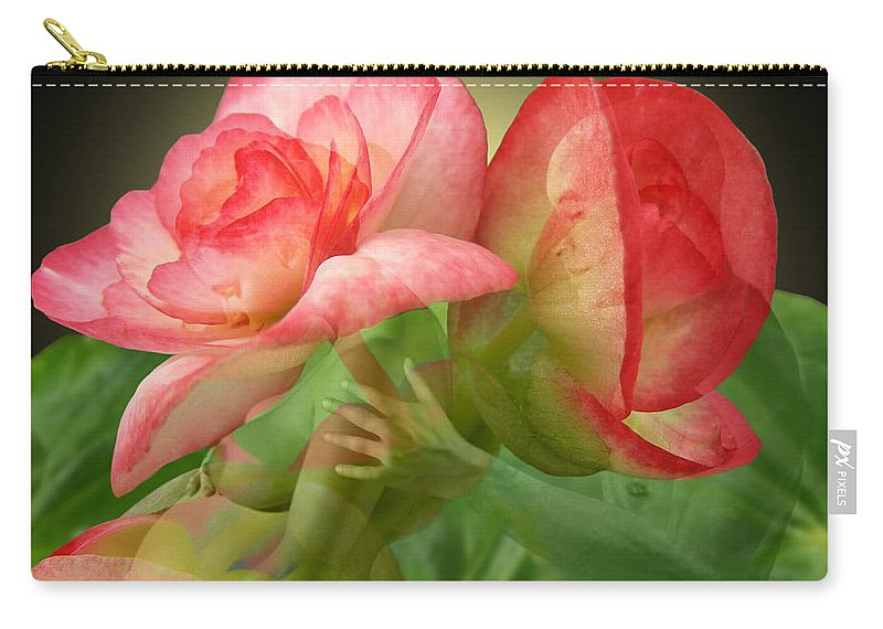 Fleurogeny Art Carry-all Pouch featuring the digital art Anticipation by Torie Tiffany