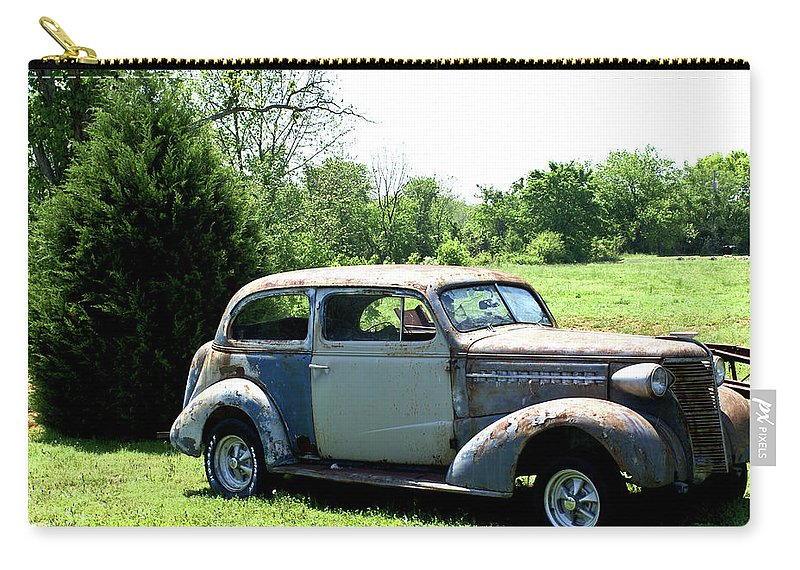 Antique Carry-all Pouch featuring the photograph Antique Car 1 by Douglas Barnett