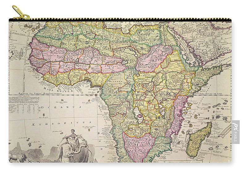 antique map of africa carry all pouch for sale by pieter schenk