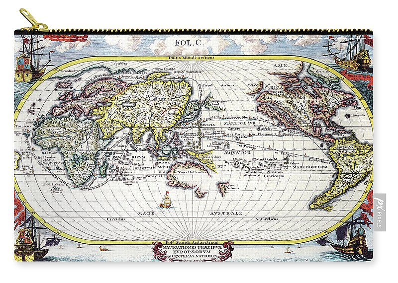 Antique Maps - Old Cartographic Maps - Antique Map Of The World ...