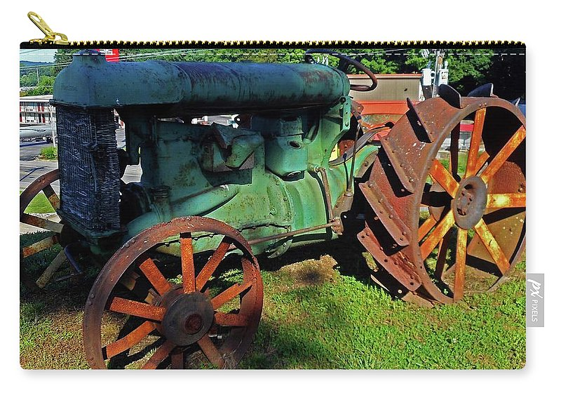 Hurricane Mills Carry-all Pouch featuring the photograph Antique Tractor 3 by Ron Kandt