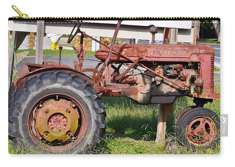Carry-all Pouch featuring the photograph Antique Tractor by Kim Bemis