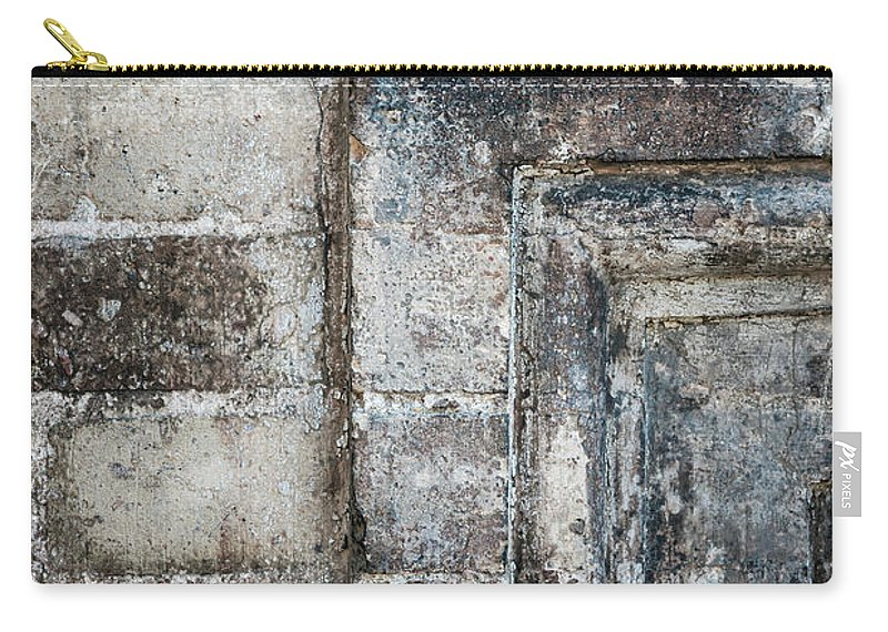 Brick Carry-all Pouch featuring the photograph Antique Wall Detail by Elena Elisseeva
