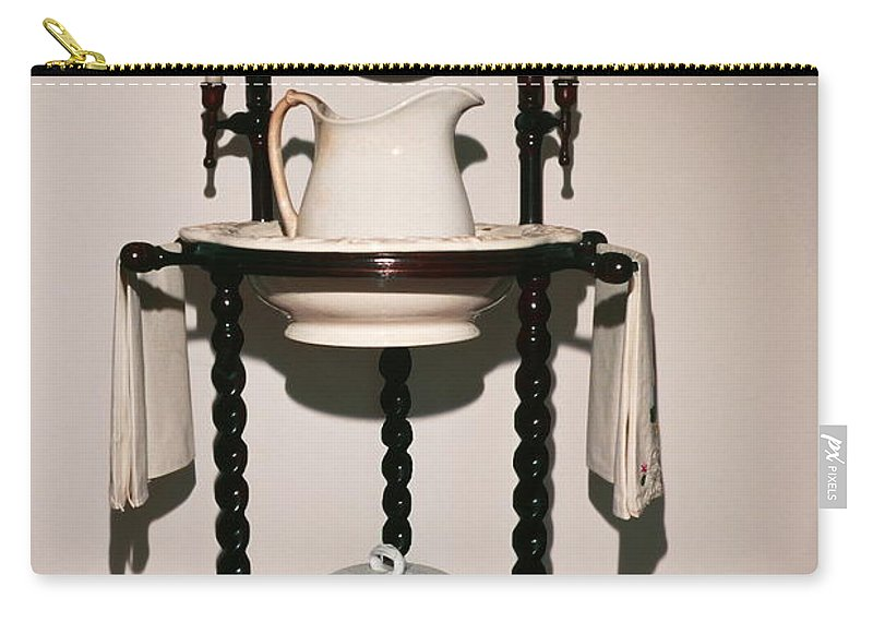 Lavabo Carry-all Pouch featuring the photograph Antique Wash Stand by Sally Weigand