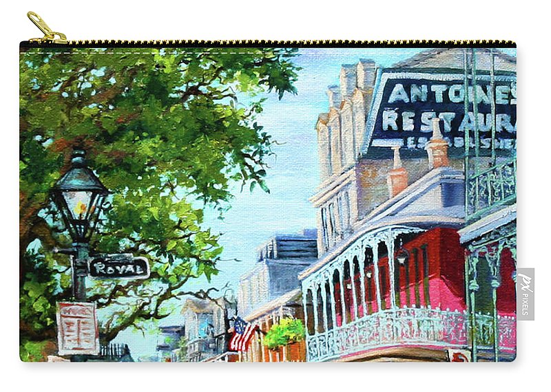 New Orleans Art Carry-all Pouch featuring the painting Antoine's by Dianne Parks