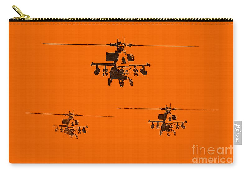 Apache Carry-all Pouch featuring the painting Apache Dawn by Pixel Chimp