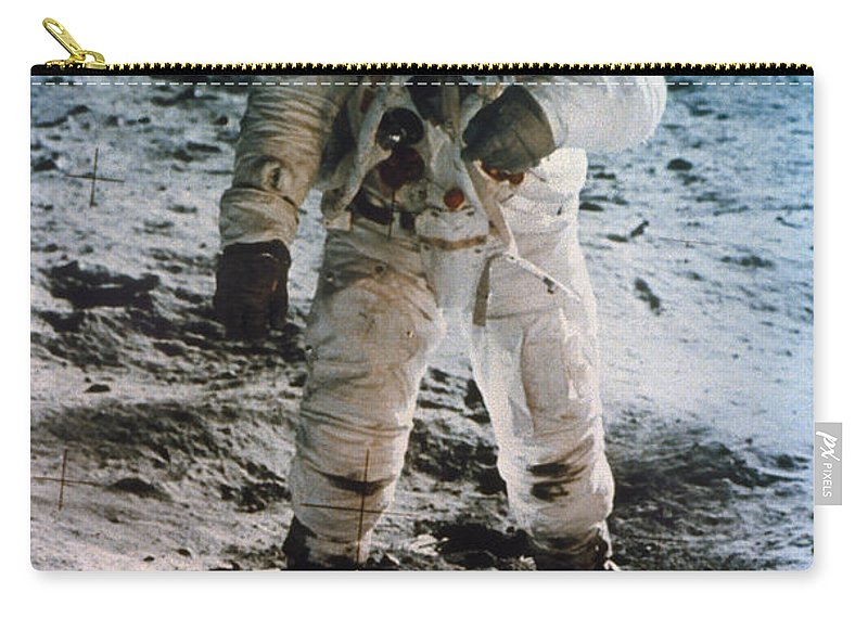 1969 Carry-all Pouch featuring the photograph Apollo 11 Buzz Aldrin by Granger