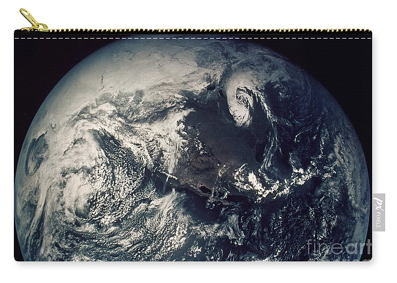 1970s Carry-all Pouch featuring the photograph Apollo 16: Earth by Granger
