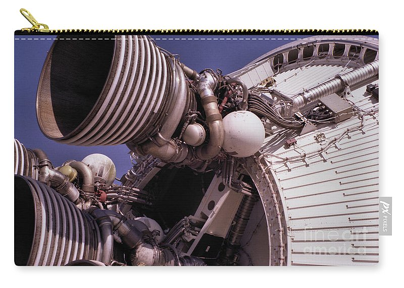 Technology Carry-all Pouch featuring the photograph Apollo Rocket Engine by Richard Rizzo