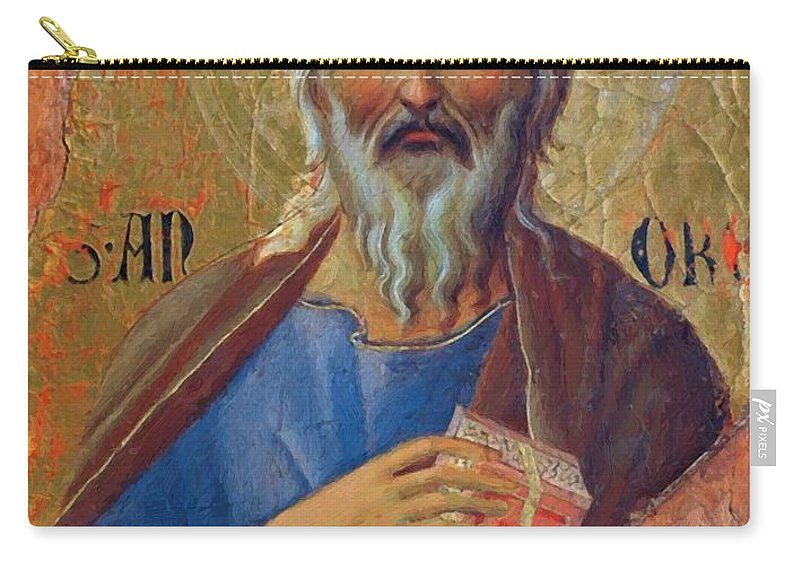 Apostle Carry-all Pouch featuring the painting Apostle Andrew 1311 by Duccio