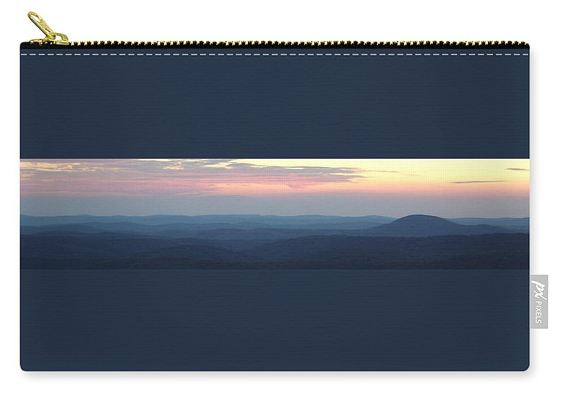 Spruce Knob West Virginia Images Appalachian Sunset Prints Blue Ridge Mountain Twilight Panorama Nature Mountain Sundown Landscape Prints Blue Mountain Panorama Prints Blue Mountain Images Carry-all Pouch featuring the photograph Appalachian Twilight Panorama by Joshua Bales
